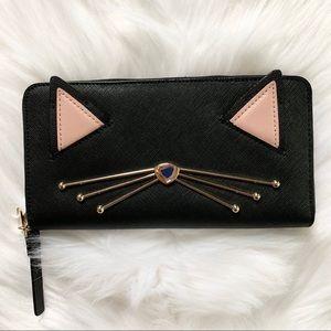 Kate spade Neda jazz things up wallet black cat